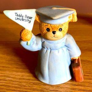Collectible porcelain teddy bear university